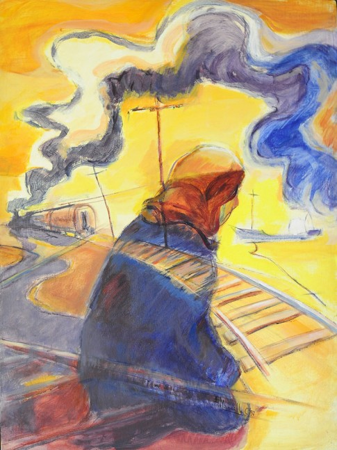 El tren 1 y 2 (Col. Particular Pinacoteca Casa del Arte Dgo. Rivera)