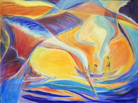 Yamanas y pelicanos