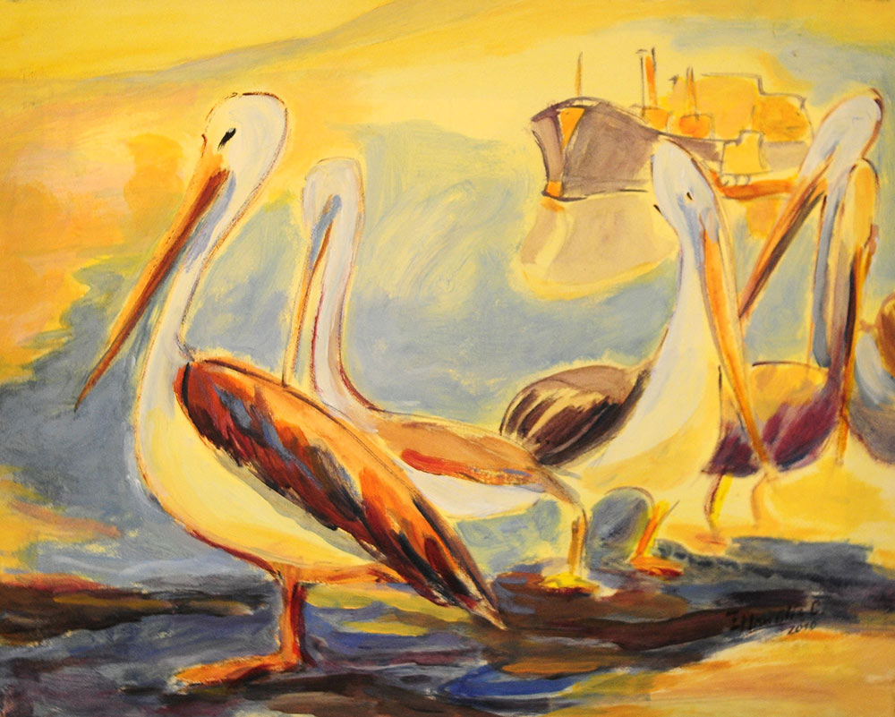Pelícanos (Col. Particular, Luís Ojeda)